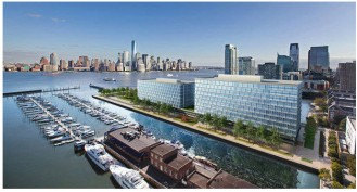 The LeFrak Organization is waiting for a tenant to sign a long-term lease for a proposed office development at Pier 6, adjacent to the Newport Marina, before shovels hit the ground.