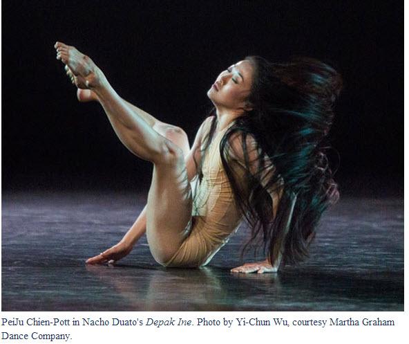 PeiJu Chien-Pott in Nacho Duato's Depak Ine. Photo by Yi-Chun Wu, courtesy Martha Graham Dance Company.