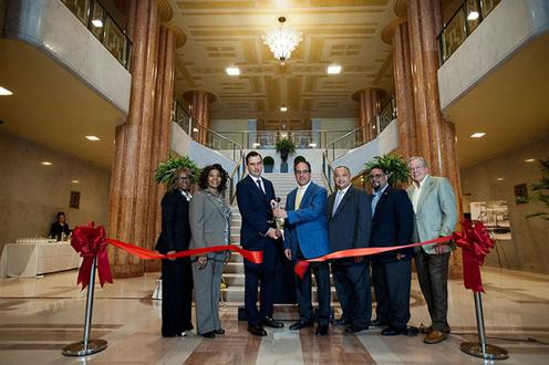 And Paul Kuehner President Of Building And Land Technology Cut The Ribbon To The Paramount At The Beacon In Jersey City On Wednesday May 28 2014