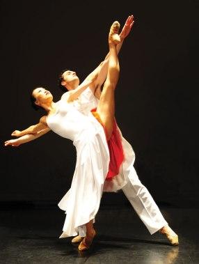 Kicks: PeiJu Chien-Pott, left, with Hanan Misko in Danzon, a piece by Pedro Ruiz. Photo by Chi Modu