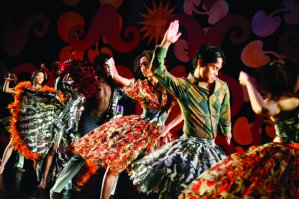 Armitage Gone! Dance performs Itutu in 2009 with Burkina Electric; costumes by Peter Speliopoulous. Credit: Julieta Cervantes