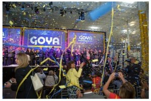 Officials from Goya Foods and around the state of New Jersey celebrate the grand opening of the food company's new Jersey City facility. - (GOYA FOODS)