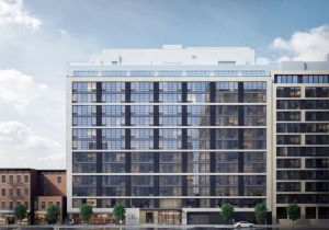 A rendering of The Oakman, new upscale condos at 160 First Street slated to open in the summer of 2016.
