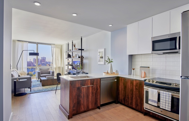 7 Seventy House Model Unit 805 Kitchen Living